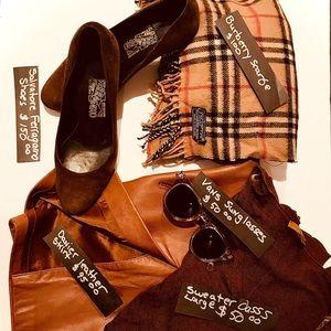 Salvatore Ferragamo Brown Suede Shoes